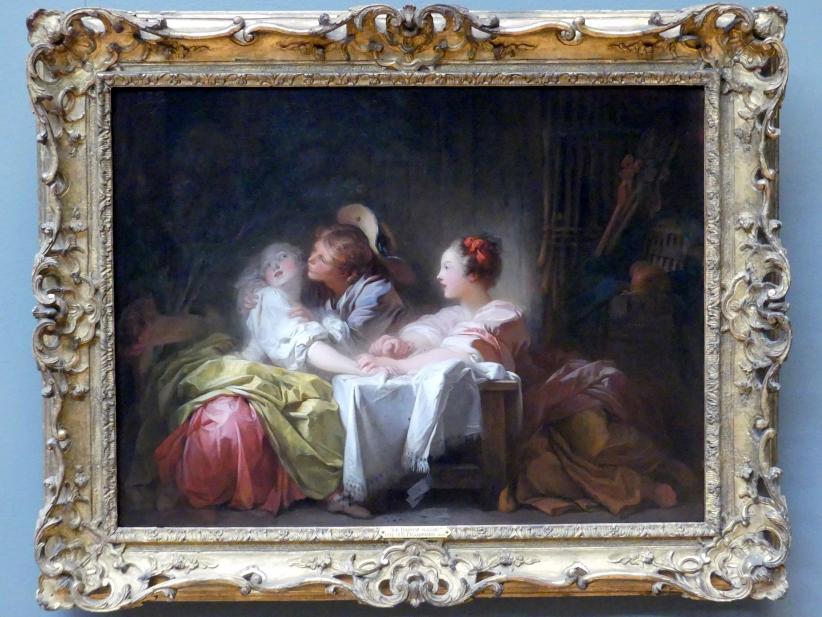 Jean-Honoré Fragonard: Der gestohlene Kuss, um 1760