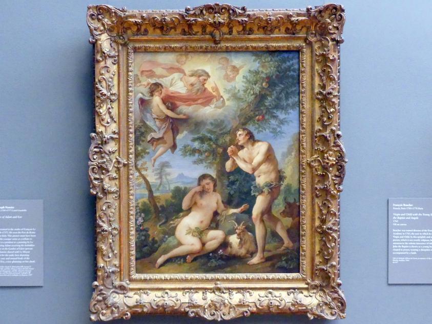 Charles-Joseph Natoire: Die Rüge von Adam und Eva, 1740