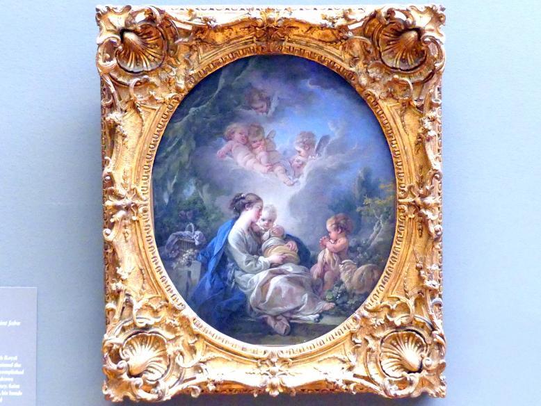 François Boucher: Maria mit Kind, dem Johannesknaben und einem Engel, 1765