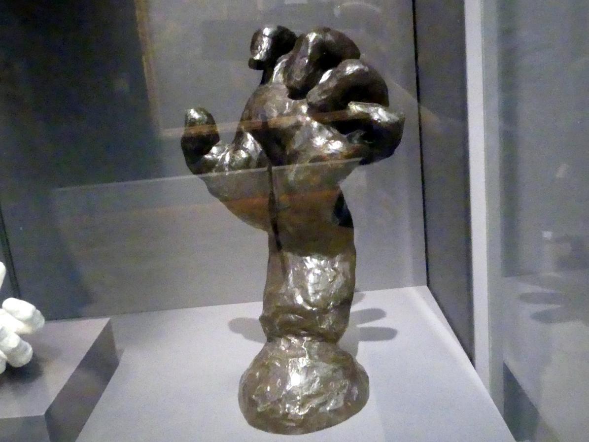 Auguste Rodin: Die geballte linke Hand (Studie für die Hand von Pierre de Wiessant), um 1885