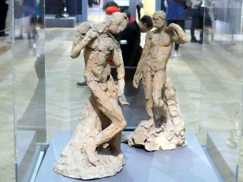 Auguste Rodin: Zwei männliche Akte, die die Prinzipien von Contrapposto nach Michelangelo und Phidias demonstrieren, um 1911