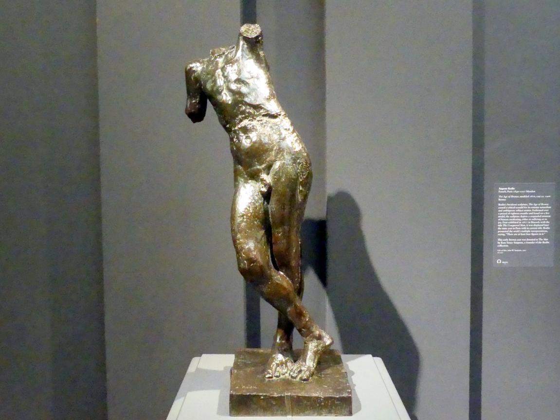 Auguste Rodin: Genius der ewigen Ruhe, ohne Kopf und Arme, um 1899