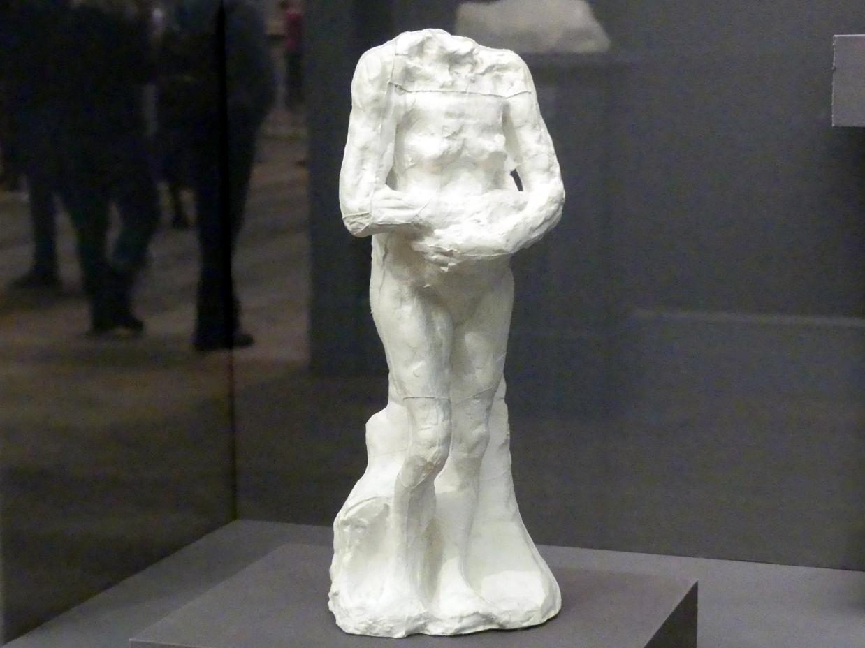 Auguste Rodin: Stehende alte Frau mit verschränkten Arme, um 1885