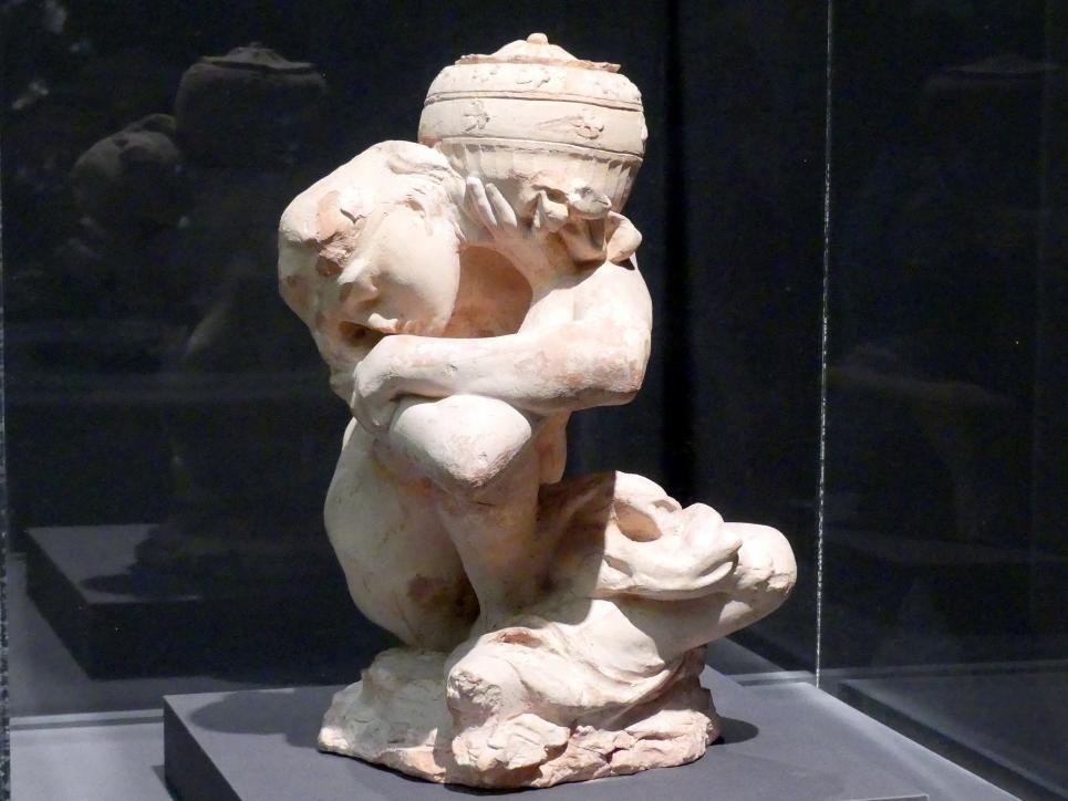 Auguste Rodin: Gefallene Karyatide mit Urne, 1883