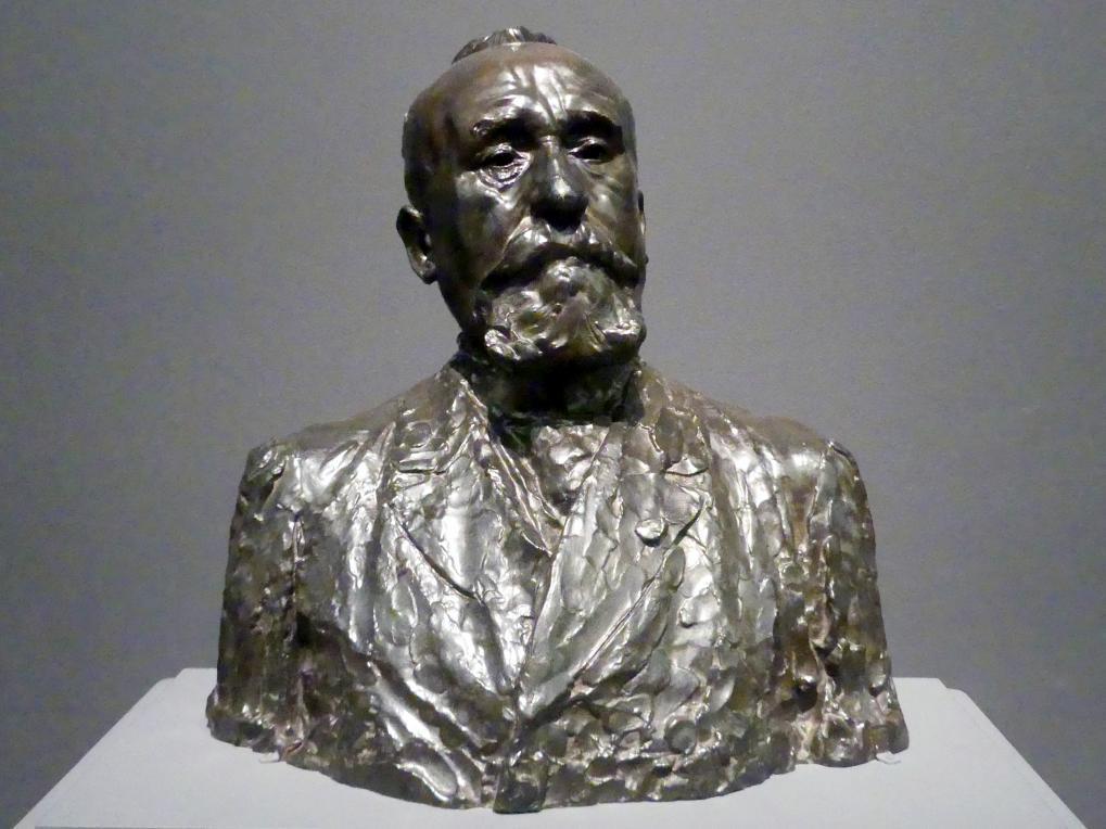 Auguste Rodin: Pierre Puvis de Chavannes, um 1890