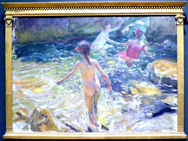 Joaquín Sorolla: Das Bad, Jávea, 1905