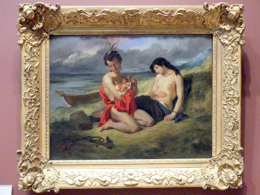 Eugène Delacroix: Natchez-Indianer, 1823 - 1824