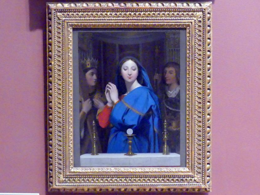 Jean-Auguste-Dominique Ingres: Jungfrau Maria in Anbetung der Hostie, 1852