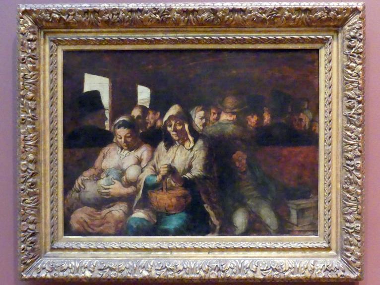 Honoré Daumier: Der Wagen der dritten Klasse, um 1862 - 1864