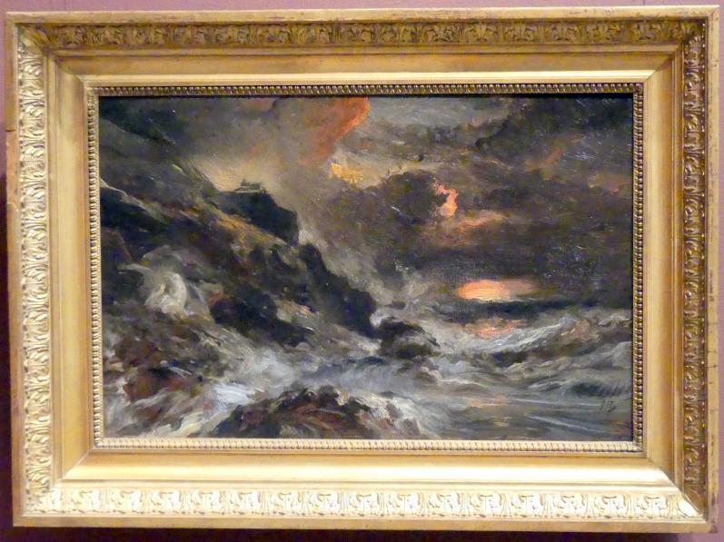 Eugène Isabey: Sturm vor der Küste der Normandie, um 1850 - 1860