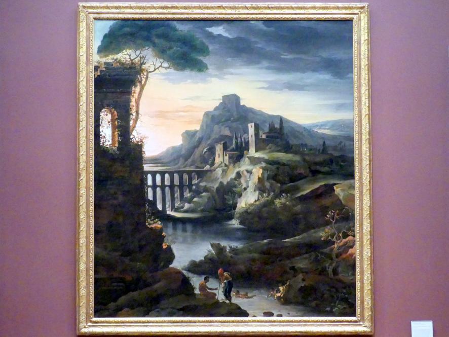 Théodore Géricault: Abendliche Landschaft mit Aquädukt, 1818