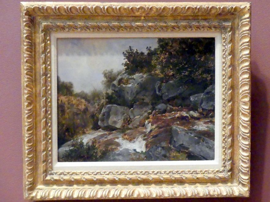 Théodore Rousseau: Fluss in der Auvergne, um 1830