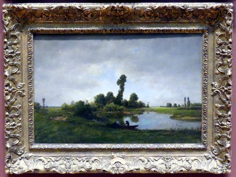 Théodore Rousseau: Flusslandschaft, Undatiert