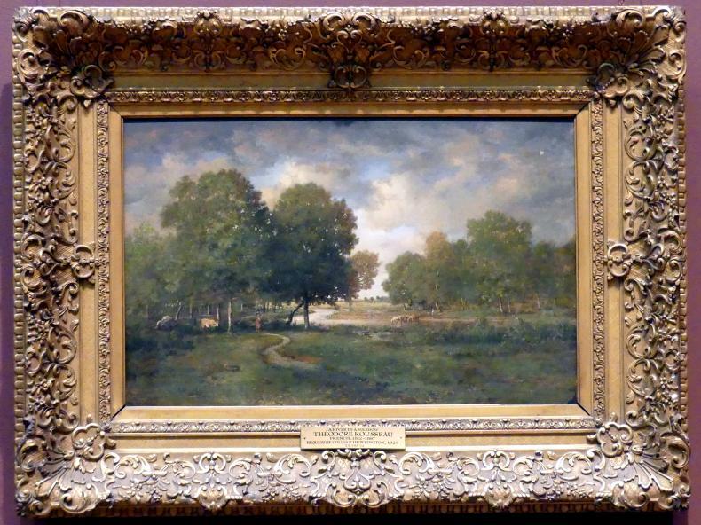 Théodore Rousseau: Fluss an einer Wiese, um 1838 - 1842