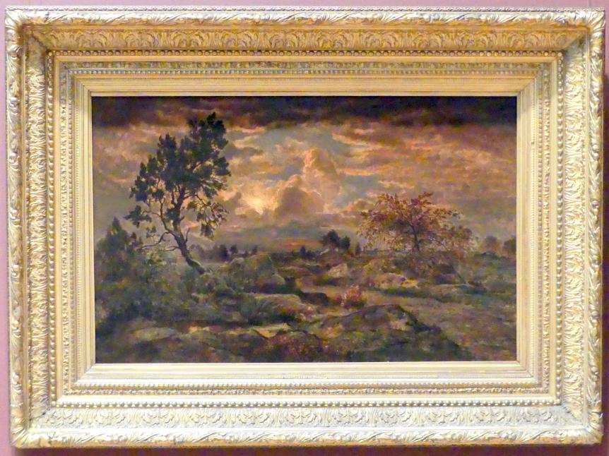 Théodore Rousseau: Sonnenuntergang bei Arbonne, um 1860 - 1865
