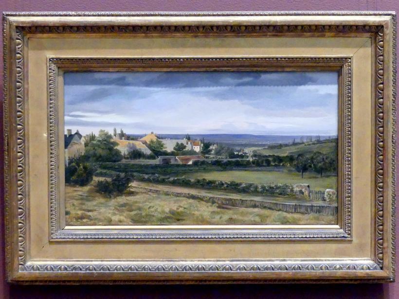 Théodore Rousseau: Dorf in einem Tal, um 1825 - 1830