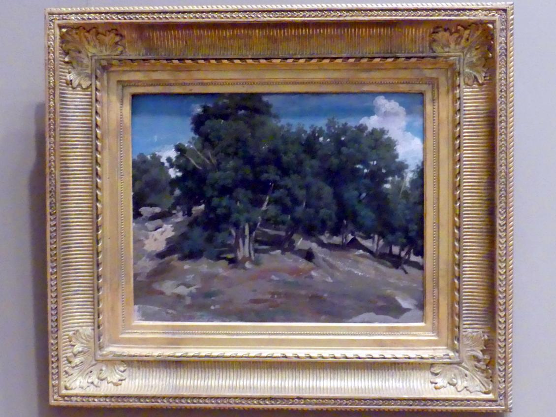 Jean-Baptiste Camille Corot: Fontainebleau: Eichen in Bas-Bréau, um 1832 - 1833