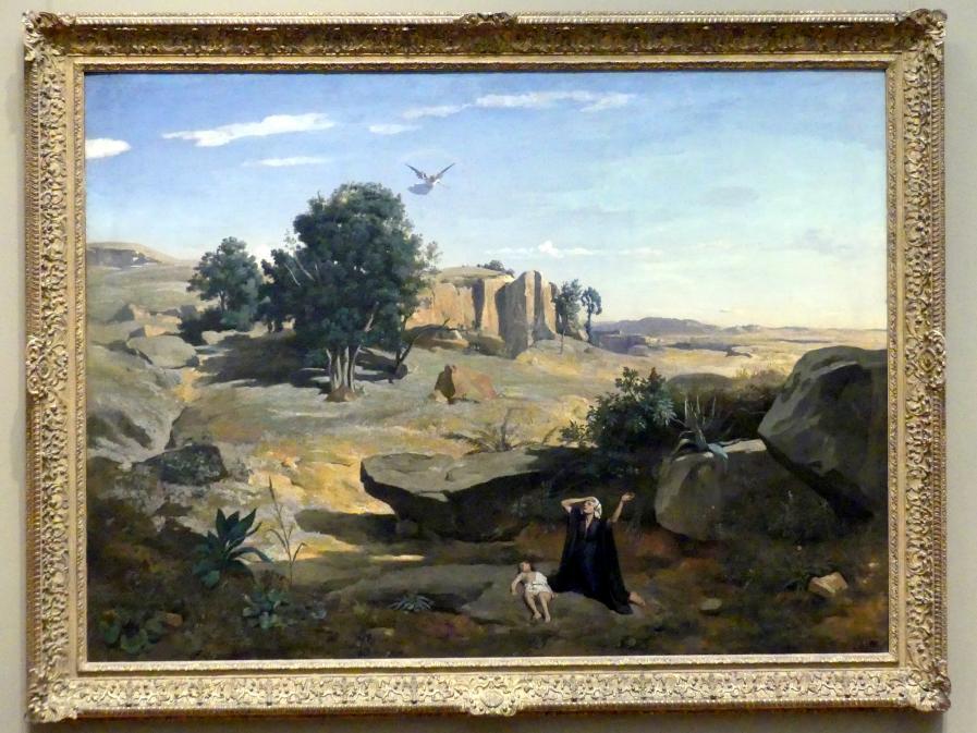 Jean-Baptiste Camille Corot: Hagar und Ismael in der Wüste, 1835