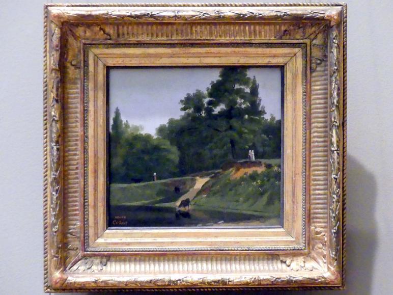 Jean-Baptiste Camille Corot: Flussauen beim Landgut des Künstlers in Ville d'Avray, um 1823