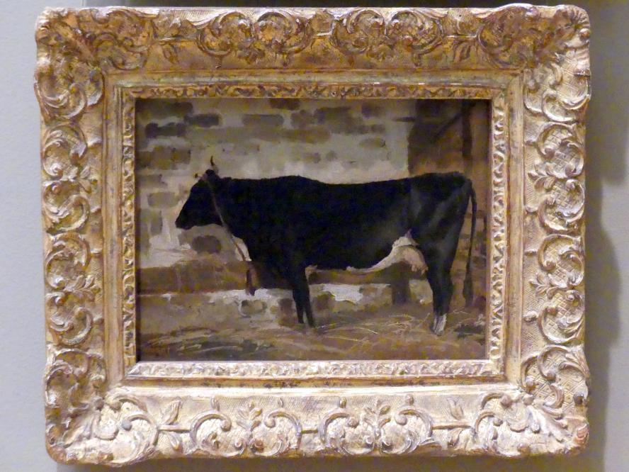 Jean-Baptiste Camille Corot: Kuh in einer Scheune, Undatiert