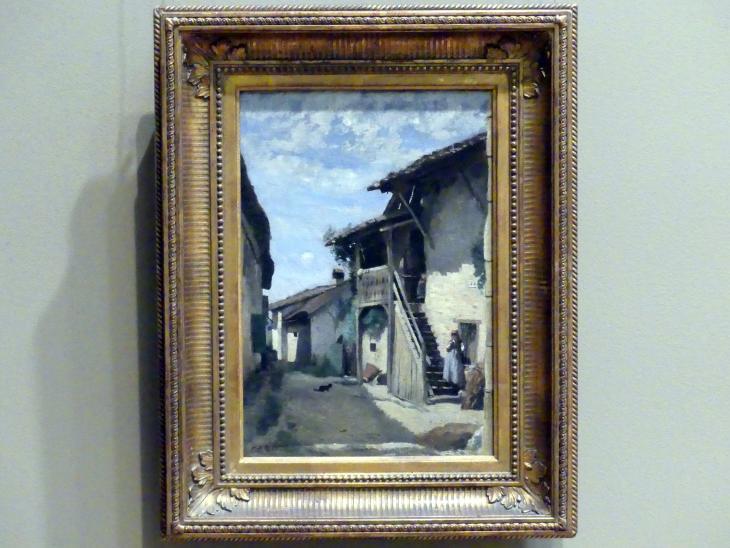 Jean-Baptiste Camille Corot: Dorfstraße in Dardagny, um 1852 - 1863
