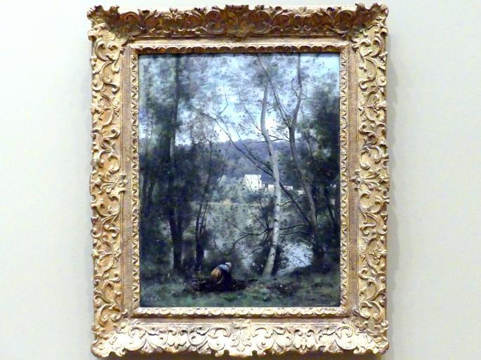 Jean-Baptiste Camille Corot: Frau beim Sammeln von Reisigbündeln in Ville-d'Avray, um 1871 - 1874