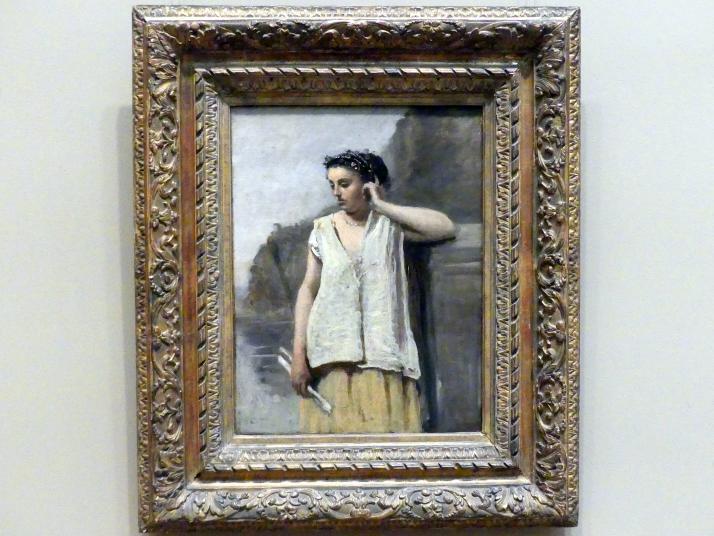 Jean-Baptiste Camille Corot: Die Muse: Geschichte, um 1865