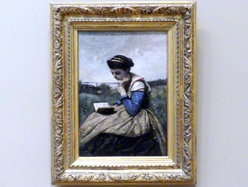 Jean-Baptiste Camille Corot: Frau beim Lesen, 1869 - 1870