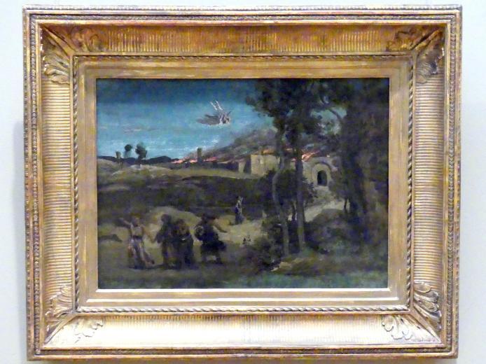 """Jean-Baptiste Camille Corot: Studie für """"Die Vernichtung Sodoms"""", 1843"""