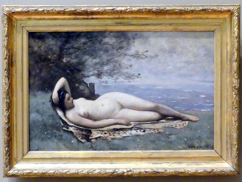 Jean-Baptiste Camille Corot: Bacchantin am Meer, 1865