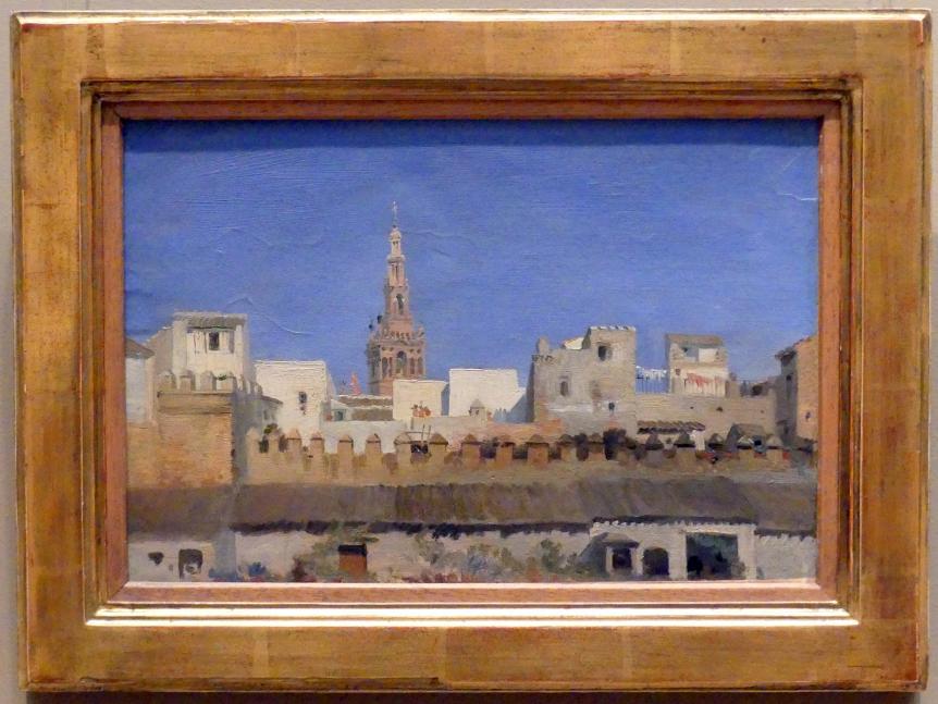 Adrien Dauzats: Die Giralda in Sevilla, 1836 - 1837