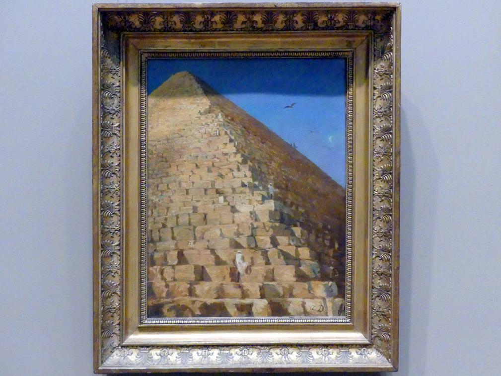 Adrien Dauzats: Die Große Pyramide in Gizeh, nach 1830