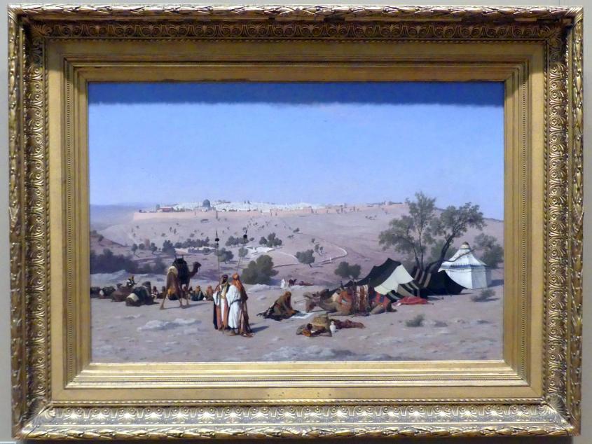 Charles Théodore Frère: Blick vom Ölberg auf Jerusalem, vor 1880