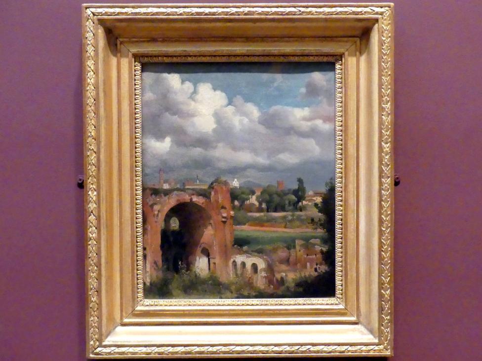 Jean-Charles-Joseph Rémond: Blick vom Palatin auf die Maxentiusbasilika in Rom, um 1822 - 1825