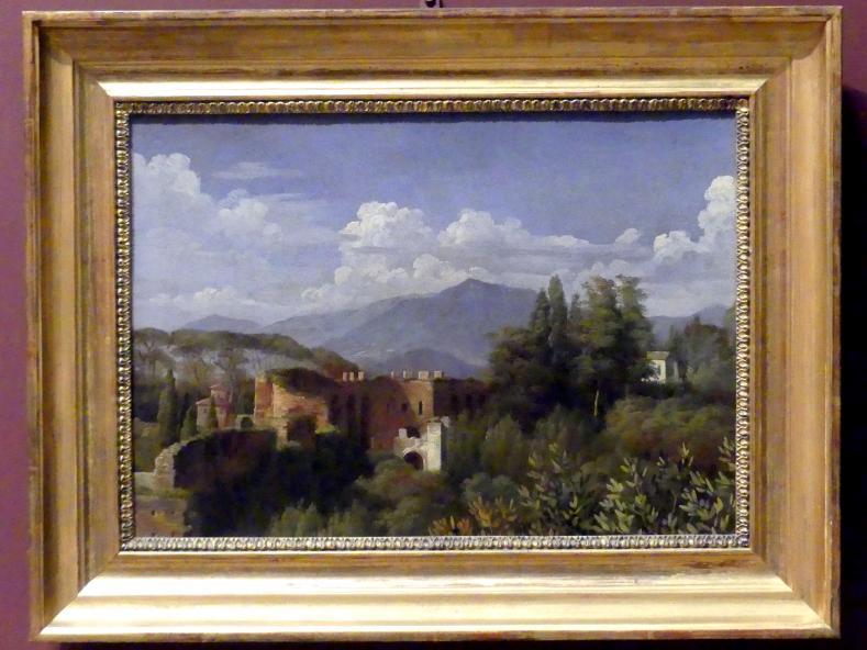 François-Édouard Picot: Blick von den Gärten der Villa Ludovisi auf die Porta Pinciana in Rom, um 1814 - 1817