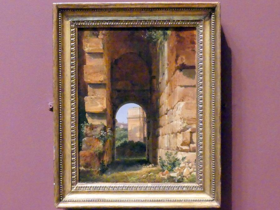 Lancelot-Théodore Turpin de Crissé: Blick vom Kolosseum auf den Konstantinsbogen in Rom, 1818 - 1838