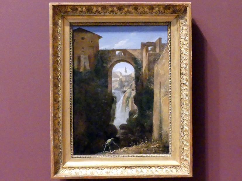 François-Marius Granet: Ponte San Rocco und Wasserfall, Tivoli, um 1810 - 1820