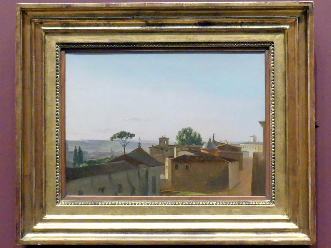 Simon Denis: Blick auf den Quirinal, Rom, 1800