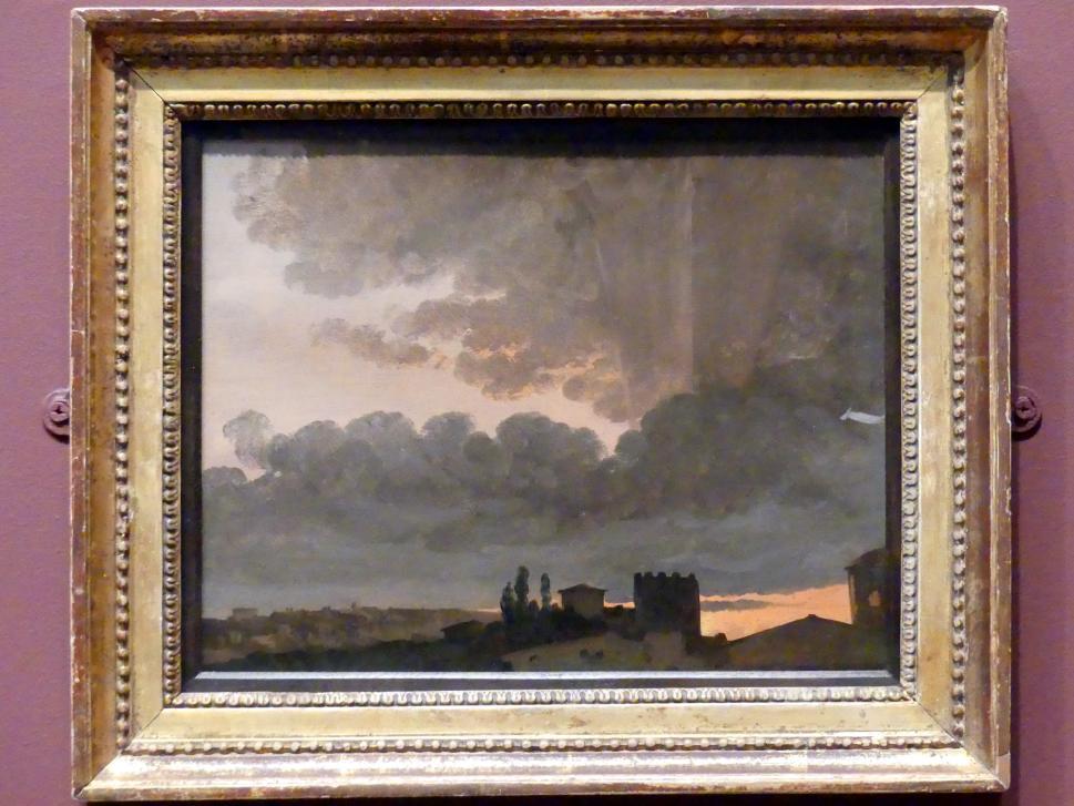 Simon Denis: Sonnenuntergang bei Rom, um 1789 - 1806