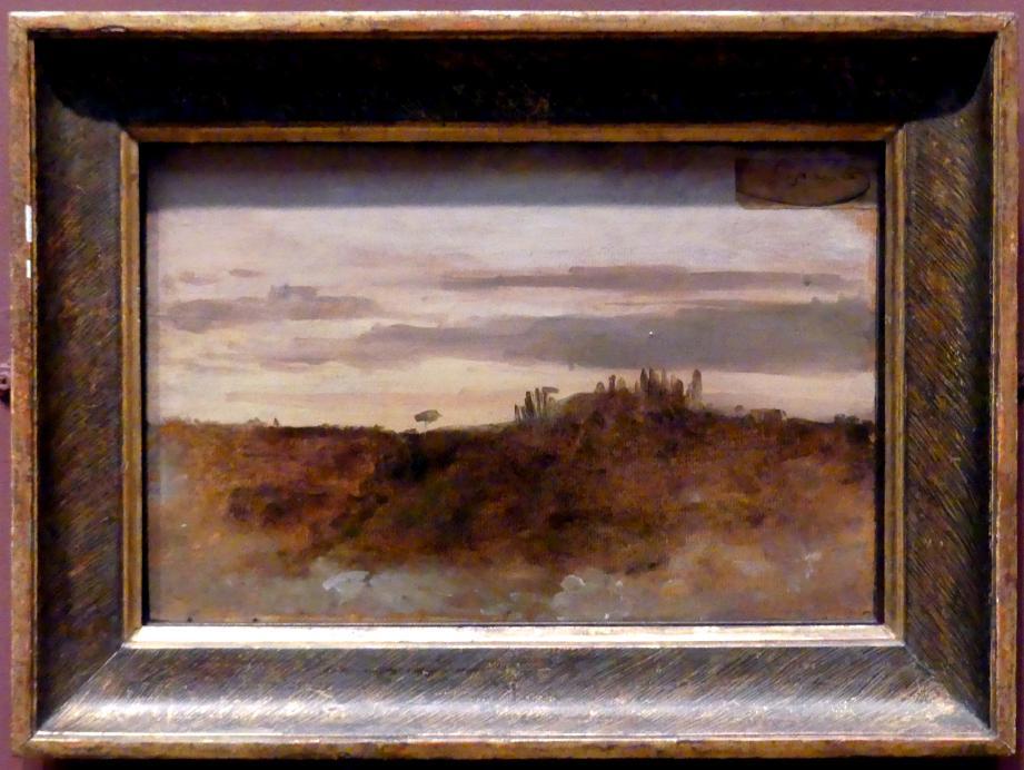 François-Marius Granet: Abenddämmerung am Monte Mario, Rom, 1804