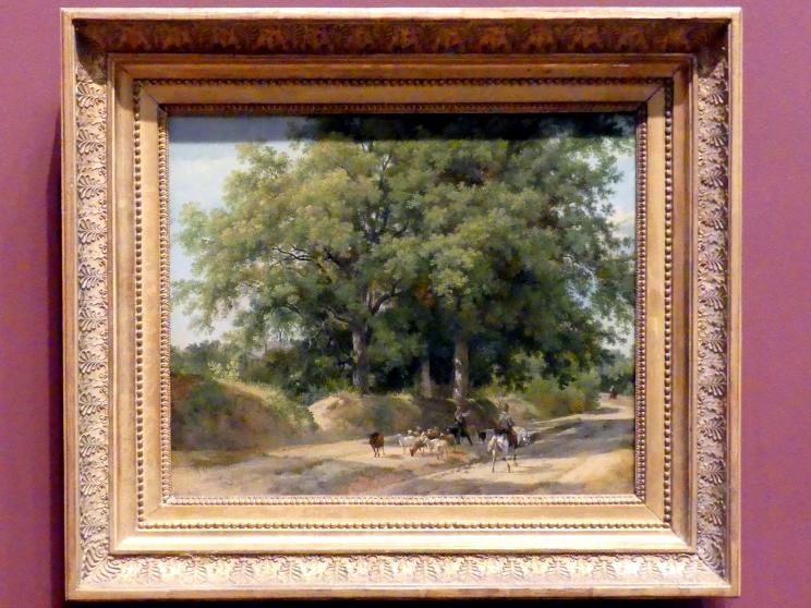 Auguste-Xavier Leprince: Ein Hirte und ein Reiter auf einer Landstraße, um 1823