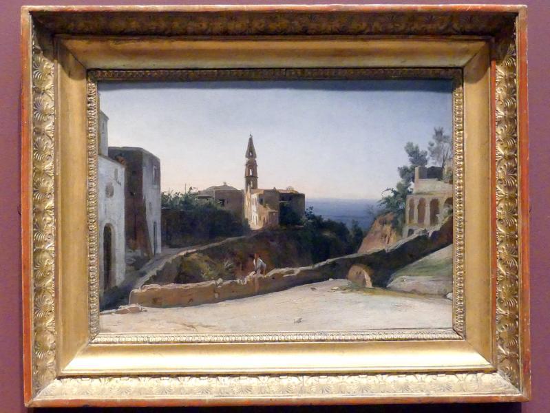 François Antoine Léon Fleury: Dorf auf Ischia (Fontana?), um 1828