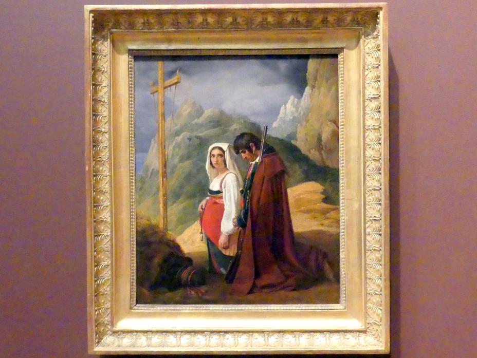 Louis Léopold Robert: Ein Bandit und seine Frau im Gebet, 1824