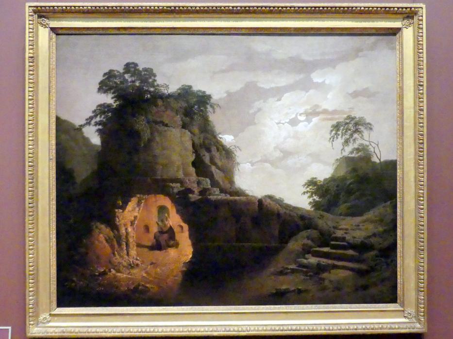 Joseph Wright of Derby: Vergils Grab bei Mondschein mit Silius Italicus Deklamationen, 1779