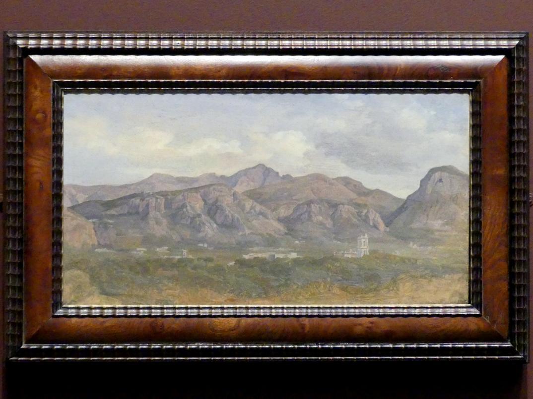 August Lucas: Blick auf den Monte Sant'Angelo von der Villa Auriemma bei Sorrent, 1832