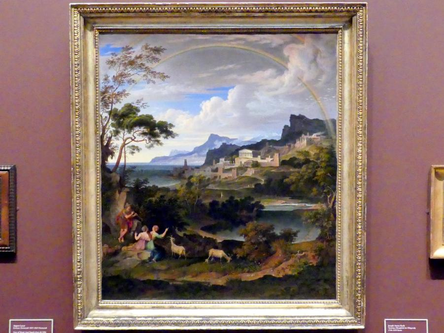 Joseph Anton Koch: Heroische Landschaft mit Regenbogen, 1824