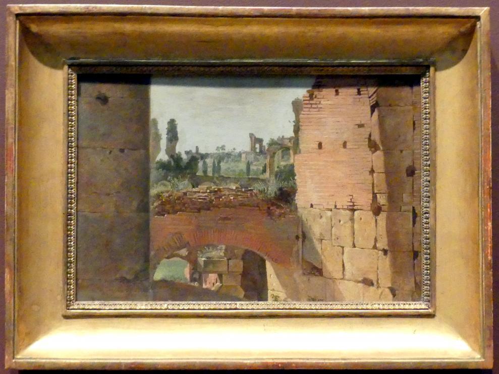 Blick vom Kolosseum zum Palatin, Beginn 19. Jhd.