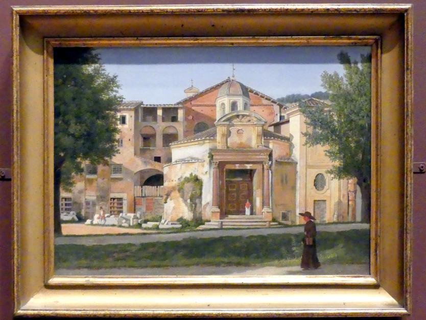 Christoffer Wilhelm Eckersberg: Ein Abschnitt der Via Sacra, Rom (Kirche Santi Cosma e Damiano), um 1814 - 1815