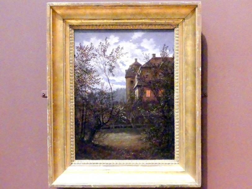 Carl Gustav Carus: Schloss Milkel bei Mondschein, um 1833 - 1835