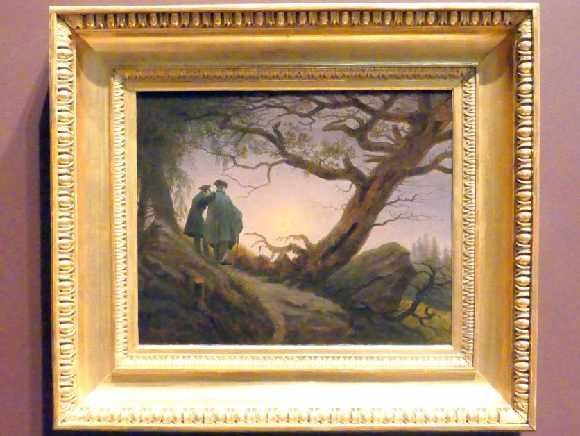 Caspar David Friedrich: Zwei Männer in Betrachtung des Mondes, um 1825 - 1830